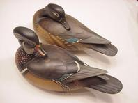 Bill Gibian decoy Wood Duck Pair