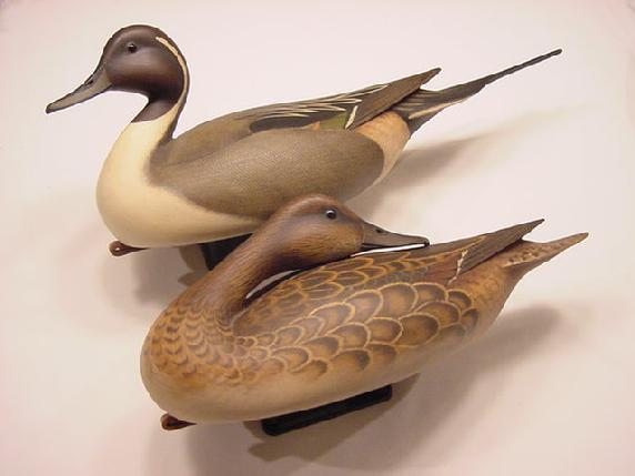 Bill Gibian Pintail Pair decoys