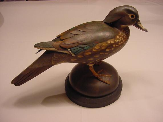 Bill Gibian standing woodduck hen mantle decorative